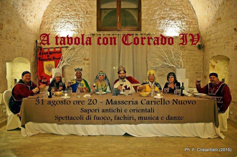 Casamassima (BA) – A TAVOLA CON CORRADO IV – Cena e Spettacolo…..e SORPRESE