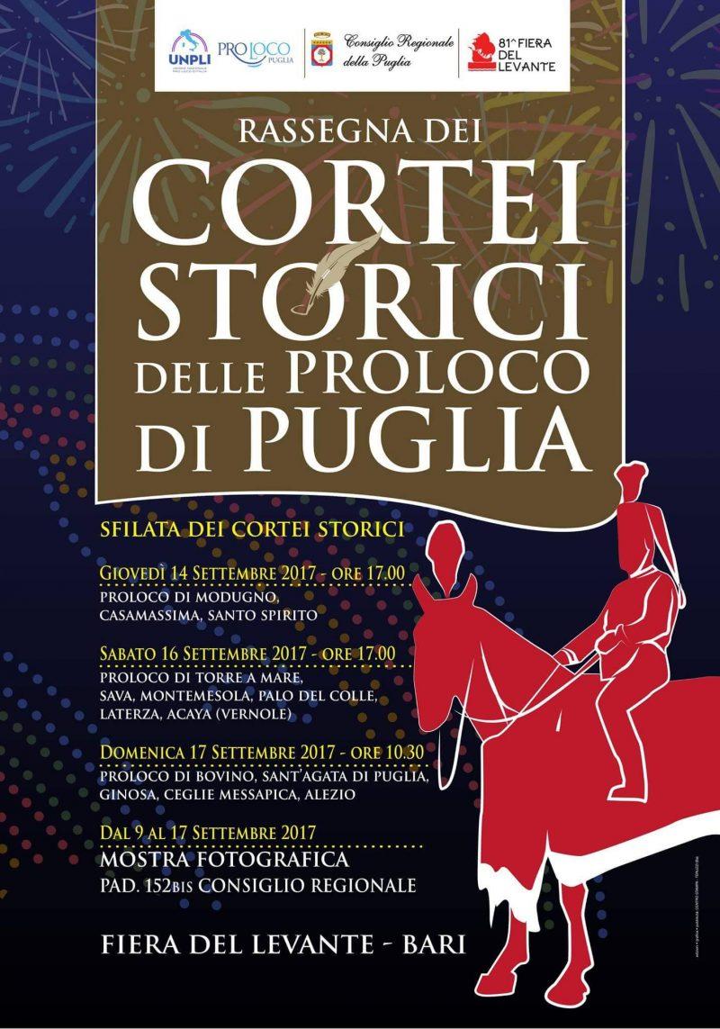 La Fiera del Levante di Bari ospita la rassegna dei Cortei Storici delle Pro Loco di Puglia