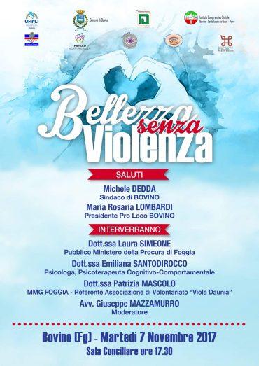 """Bovino (FG) – """"Bellezza senza violenza"""""""