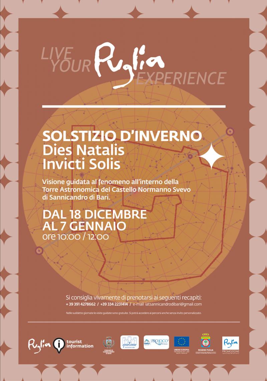 """Sannicandro di Bari (BA)- Solstizio d'Inverno """"Dies Natalis Invicti Solis"""""""