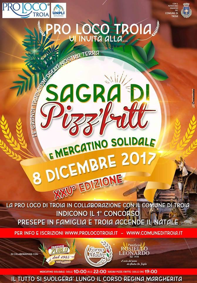 "Troia (FG) – Sagra di ""PIZZ' FRITT'"" e Mercatino Solidale"