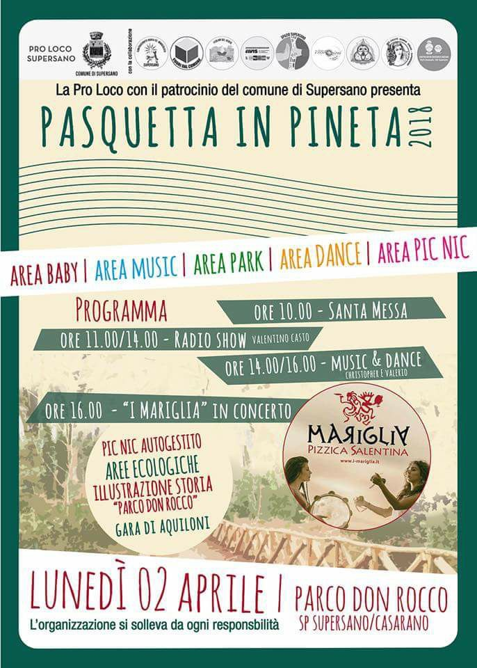 Supersano (LE) – Pasquetta in Pineta 2018