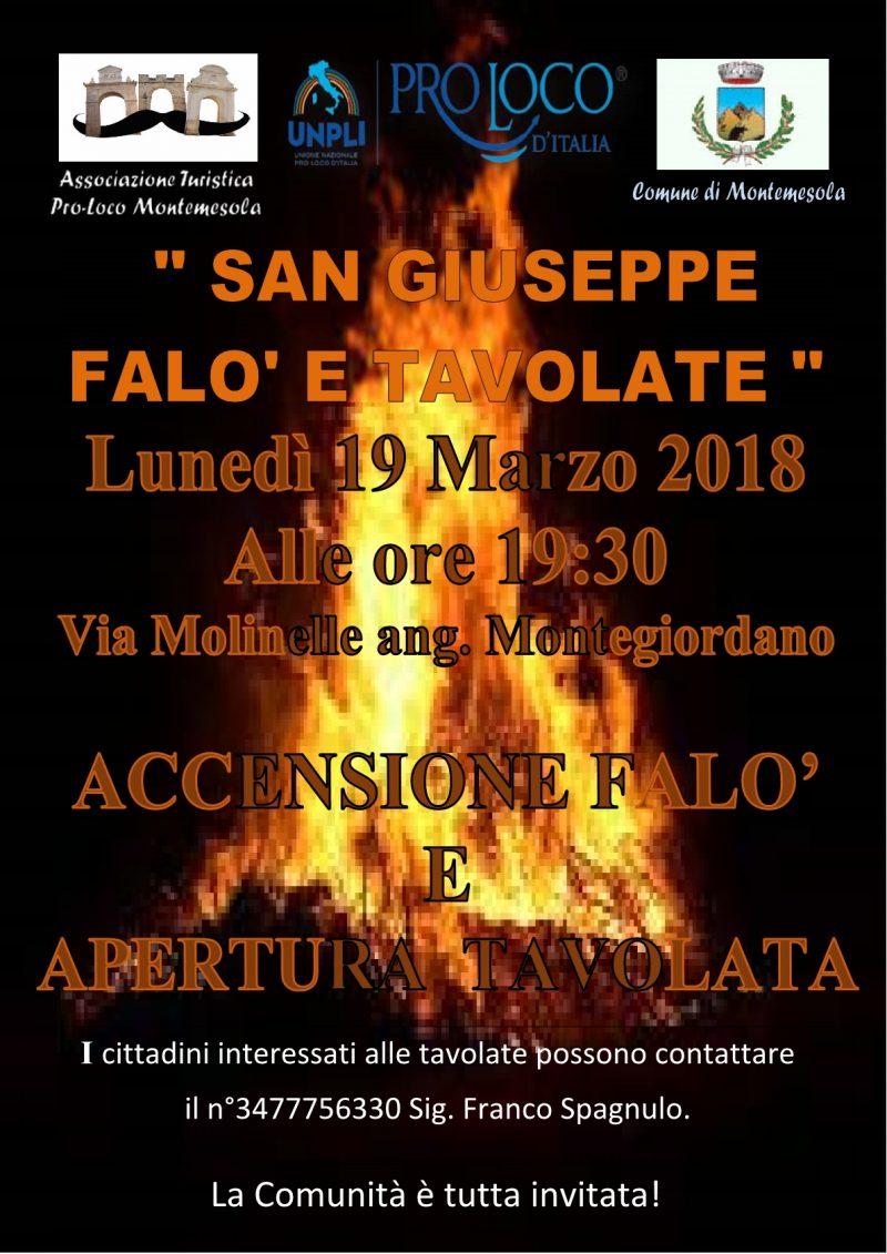 Montemesola (TA) – falò di San Giuseppe e tavolate