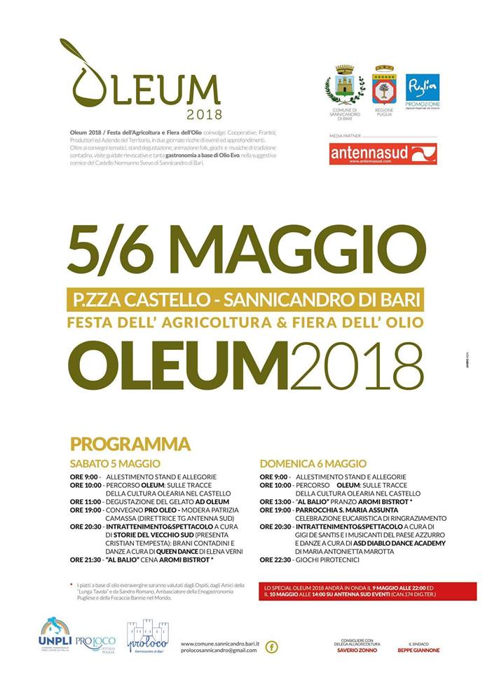 Sannicandro di Bari (BA) – Oleum 2018