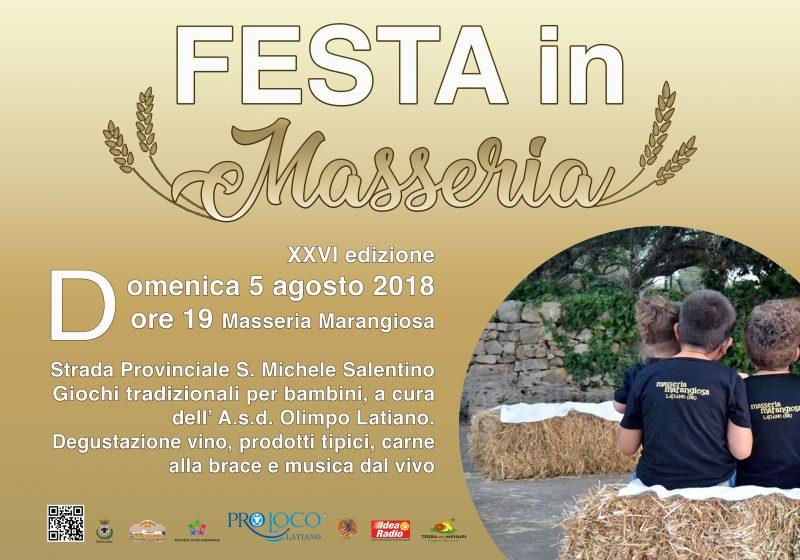 Latiano (BR) – Festa in Masseria