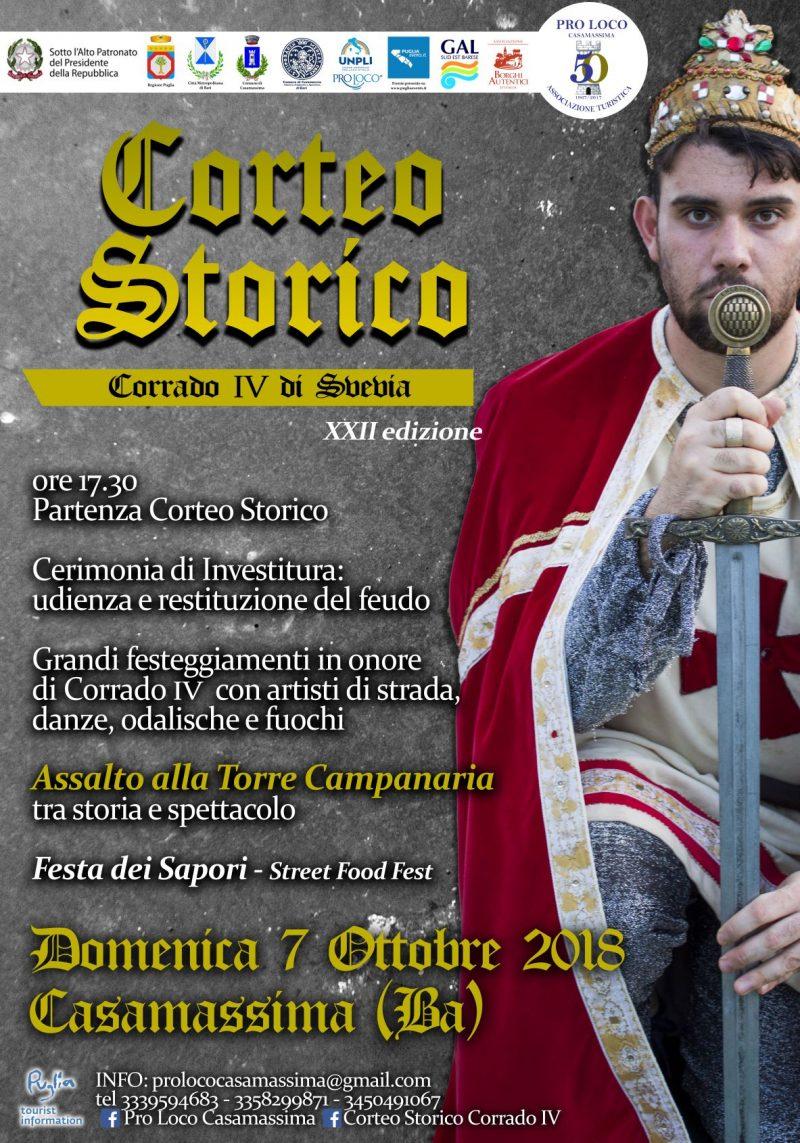 """Casamassima (BA) – XXII edizione Corteo Storico """"Corrado IV di Svevia"""""""