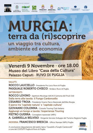 """Ruvo di Puglia (BA) – Murgia: Terra da (ri)scoprire"""" – presentazione della Sagra del Fungo Cardoncello"""