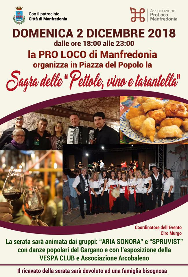 Manfredonia (FG) – Sagra delle Pettole, Vino e Tarantella