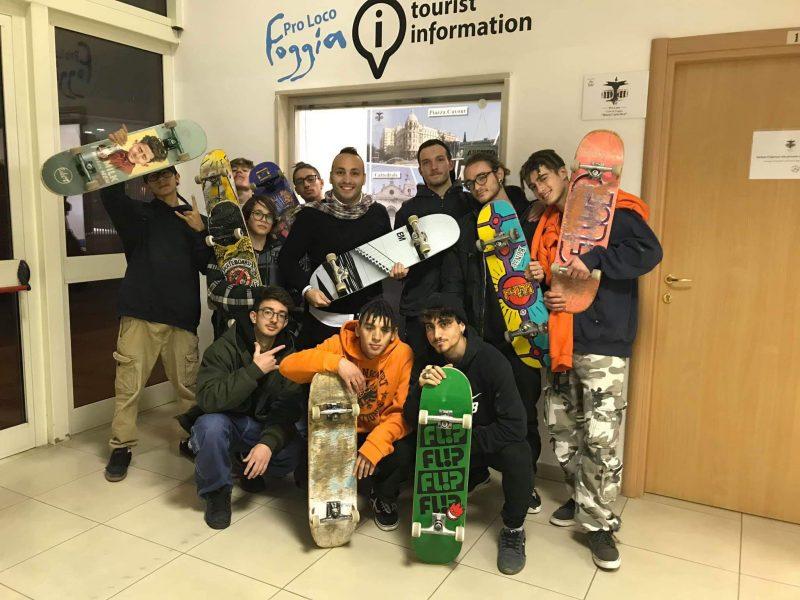 Foggia – La Pro Loco Foggia incontra il gruppo Street Skate Team