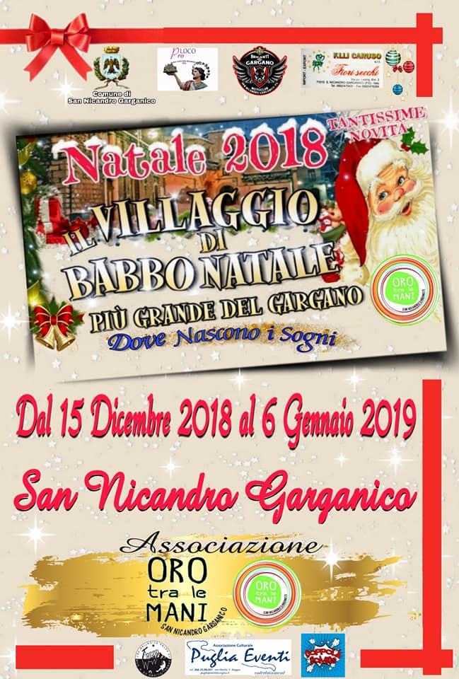 San Nicandro Garganico (FG) – Il Villaggio di Babbo Natale: gli eventi dal 15 dicembre al 6 gennaio
