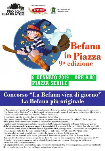 """Corato (BA) – La Befana in Piazza – concorso """"La Befana vien di giorno"""""""