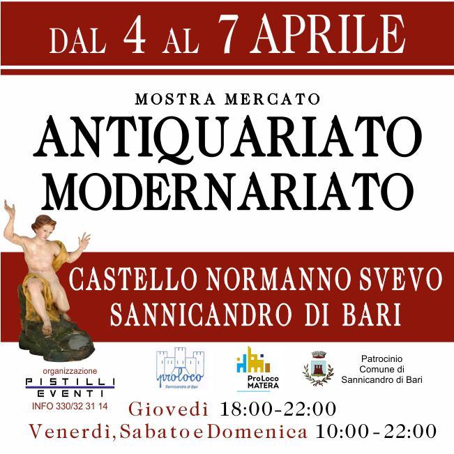 """Sannicandro di Bari (BA) – 3^ Edizione di """"Antiquariarte"""""""