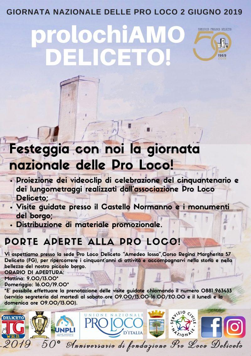 Deliceto (FG) – GIORNATA NAZIONALE PRO LOCO 2 Giugno 2019: ProlochiAMO!!