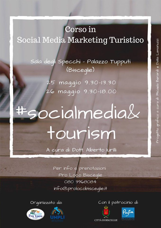 Bisceglie: corso di social media marketing per operatori turistici e culturali