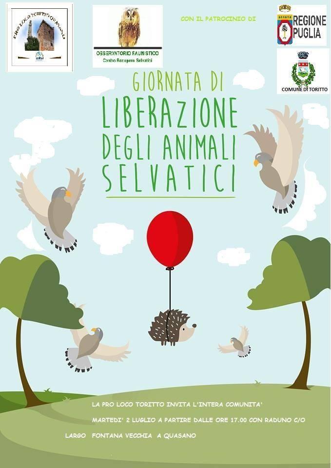 Toritto (BA) – Giornata di liberazione degli animali selvatici