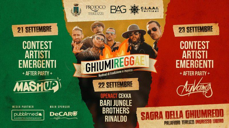 """Terlizzi – da questa sera c'è """"Ghiummireggae"""":festival di tradizione e musica."""