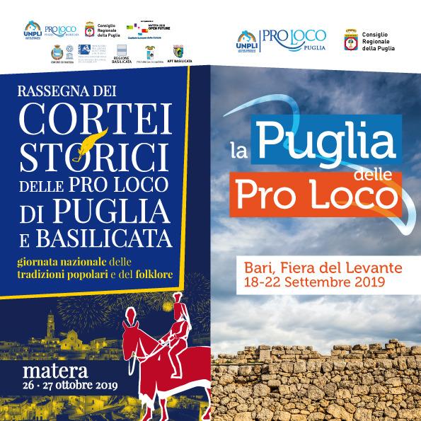 """""""La Puglia delle Pro Loco"""", alla Fiera del Levante  di scena tradizioni, paesaggi e promozione turistica"""