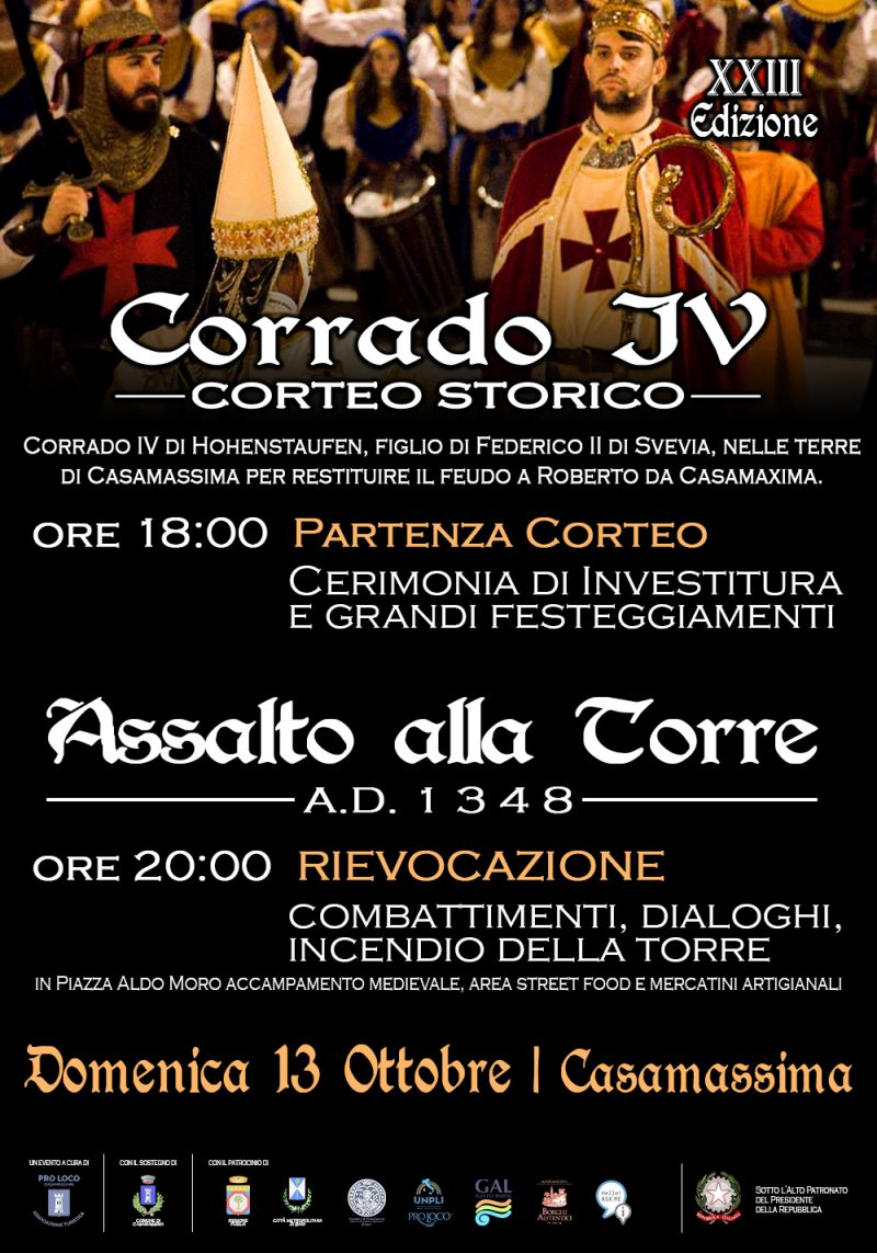 Casamassima (BA) – Corteo storico Corrado IV di Svevia – Assalto alla torre