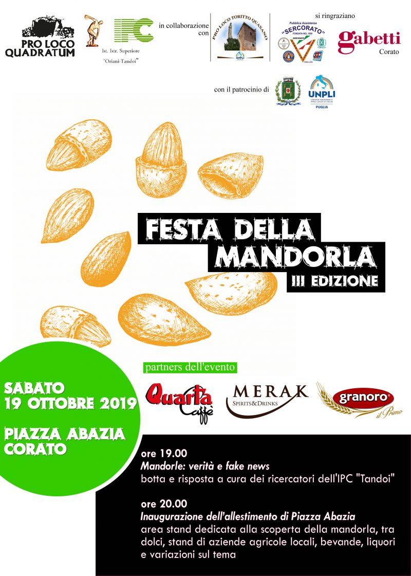 Corato (BA) – 3a Festa della Mandorla 2019