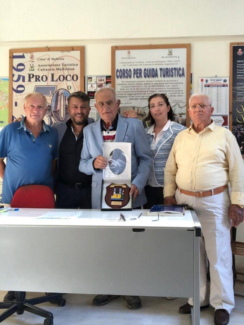 Molfetta (BA) – La Pro Loco ringrazia il Maggiore Vito Ingrosso