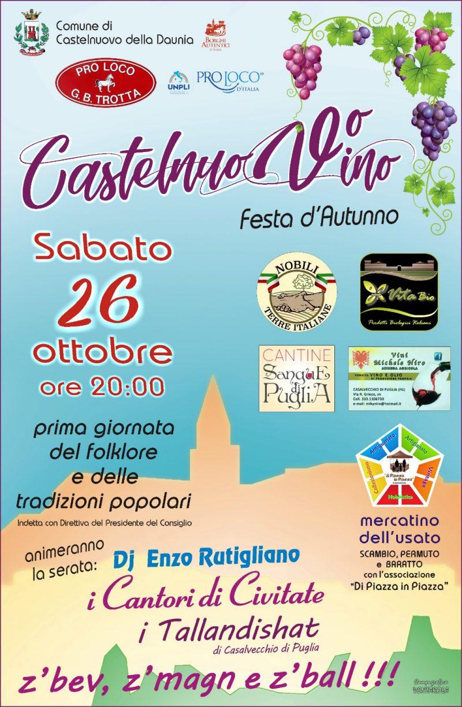 Castelnuovo della Daunia (FG) – CastelnuoVino – Giornata nazionale del folklore e delle tradizioni popolari sui Monti Dauni