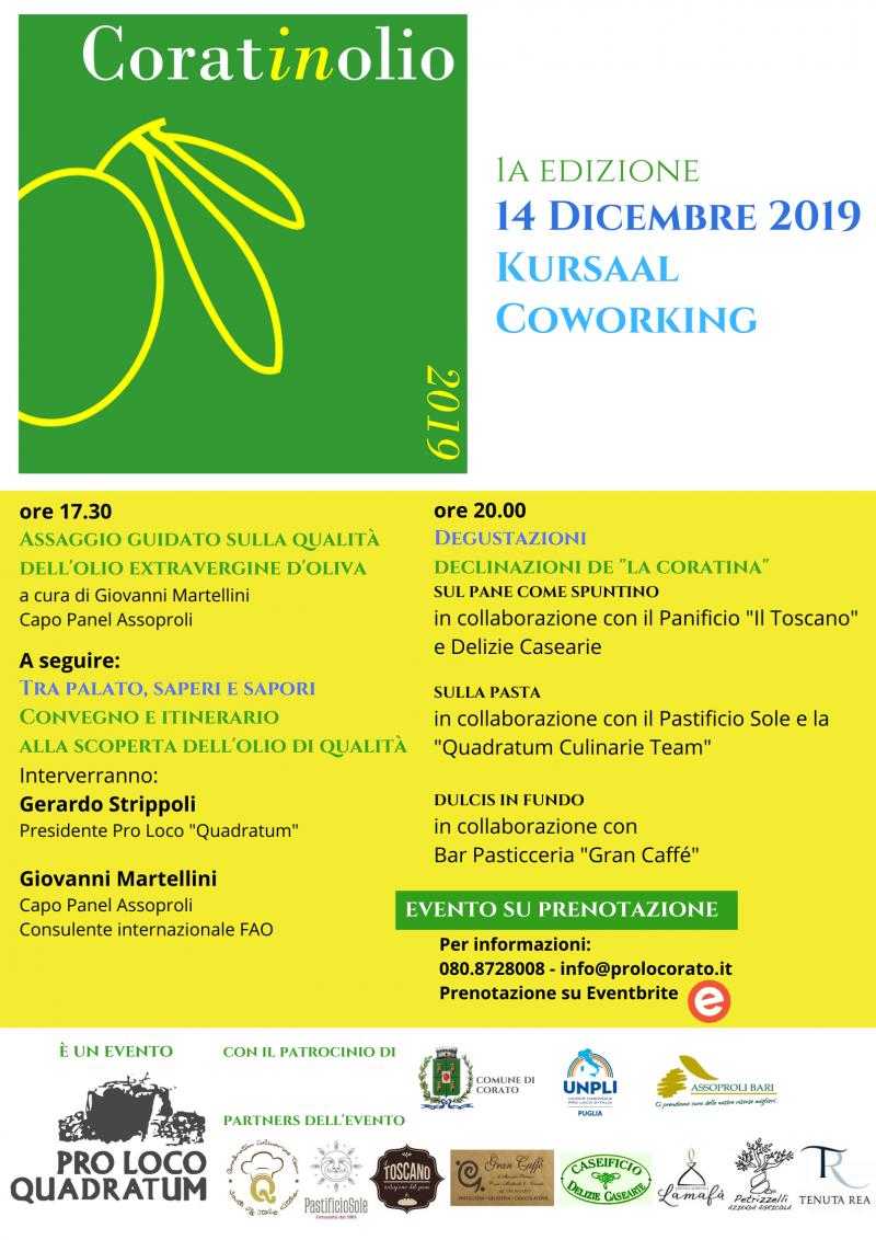 """Corato (BA) – 1a edizione """"Coratinolio"""""""