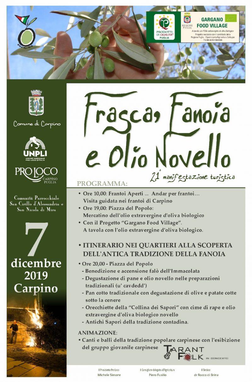 """Carpino (FG) – """"Frasca, Fanoia e  Olio Novello"""" 21a edizione"""