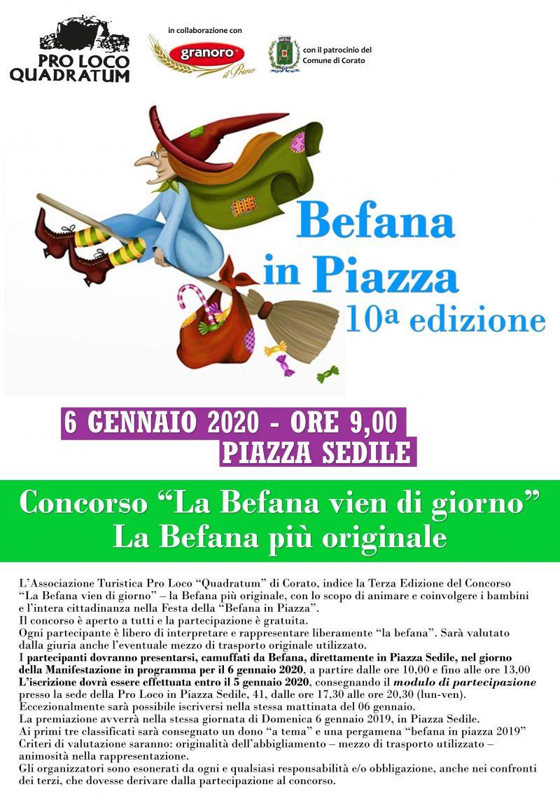 """Corato (BA) – 10a edizione """"La Befana in Piazza"""""""
