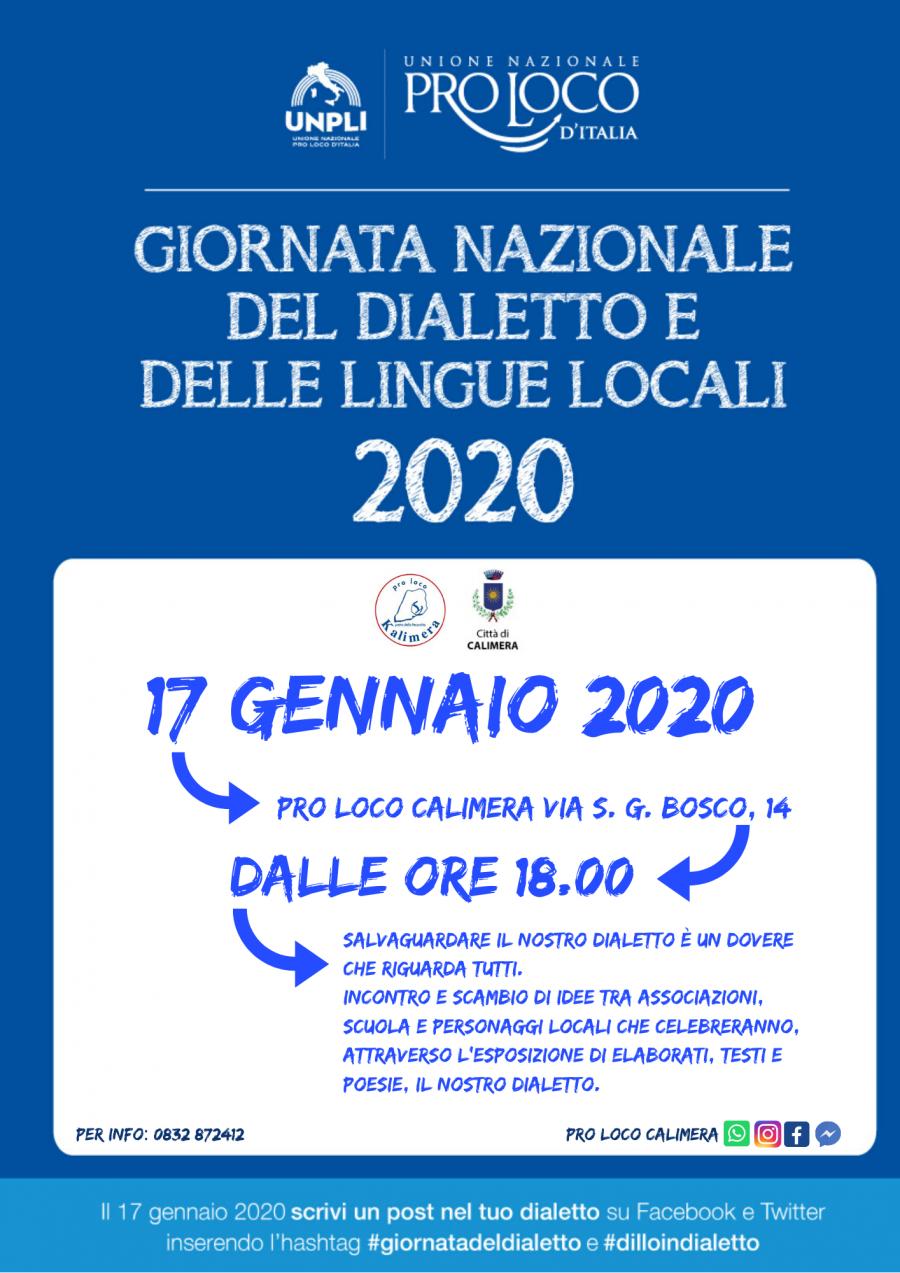 Calimera (LE) – Giornata Nazionale del dialetto e delle lingue locali
