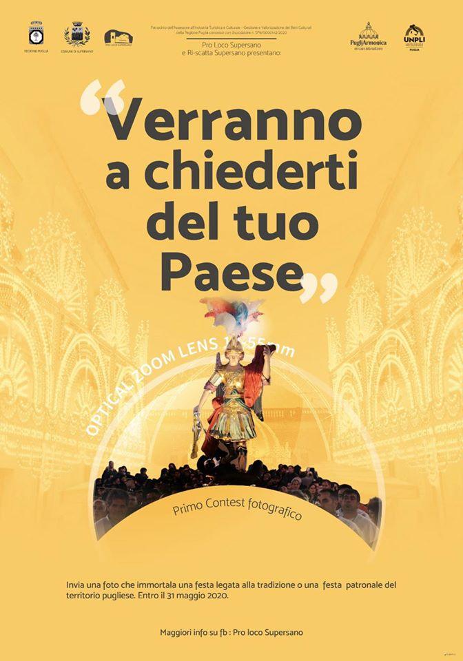 """Supersano (LE) – """"VERRANNO A CHIEDERTI DEL TUO PAESE"""""""