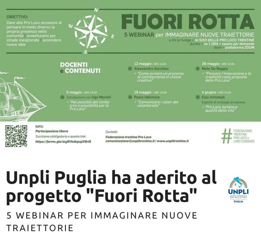 """Webinar di formazione delle Pro Loco trentine, Unpli Puglia aderisce: """"Unità e professionalità"""""""