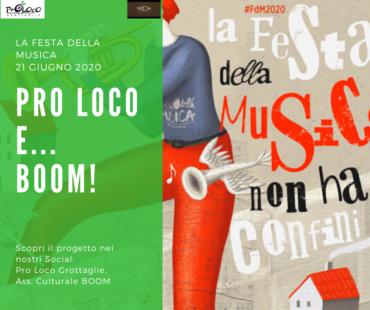 Grottaglie (TA) – La Festa della Musica 2020 –  Pro Loco e… BOOM!