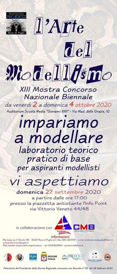 Ruvo di Puglia (BA) – L'Arte del Modellismo – Corso Teorico-pratico per aspiranti modellisti