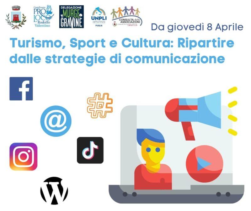 Castellaneta (TA) – corso di comunicazione dal titolo: Turismo, Sport e Cultura: ripartire dalle strategie di comunicazione