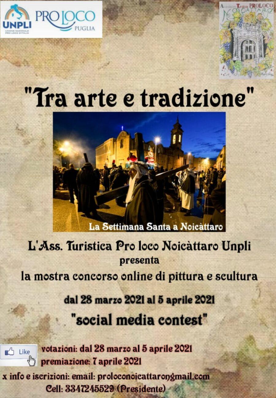 """Noicattaro (BA) – Mostra-Concorso collettiva online """"Tra arte e tradizione"""""""