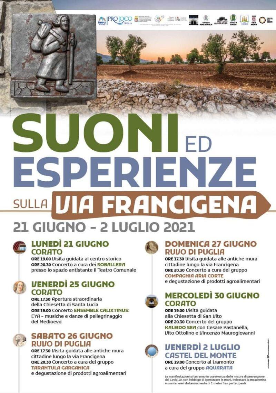 Suoni ed Esperienze sulla Via Francigena | programma e primo evento