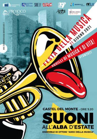 """""""Festa della Musica"""", primo evento della giornata al Castel del Monte, all'alba"""